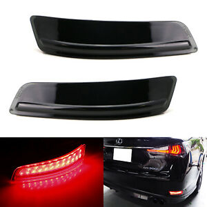 Smoked Lens 80 smd Led Bumper Reflector Marker Lights For 2013 2018 Lexus Gs Es