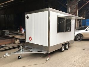 Brand New 3mx1 8m Basic Concession Stand Trailer Mobile Kitchen Ship By Sea