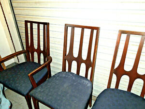 Mcm Broyhill Brasilia Dining Room Chairs Set Of 6 Table With Leaf