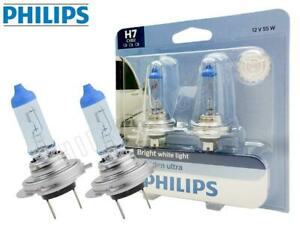 H7 Philips Crystal Vision Ultra 4000k 12972cvb2 Bulbs Pack Of 2