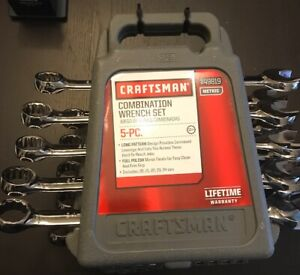 Craftsman 5 Pc Metric Large Combination Wrench Set 20mm To 24mm 49819 New