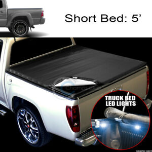 Snap On Tonneau Cover 16x Led Lights For 05 15 Tacoma Double Crew 5 Ft Short Bed