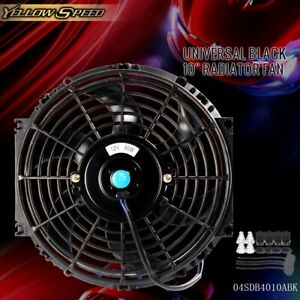 10 Inch 12v 80w Universal Slim Push Pull Electric Radiator Cooling Mount Fan