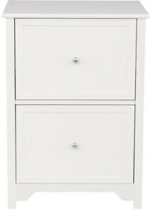 Office Furniture File Cabinet 2 drawer Wooden Lateral Organizer white