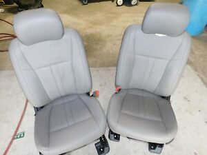 15 16 17 18 Ford F 150 Front Seats Oem Gray Leather Bucket Seats