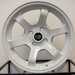 15x7 20 Rota Grid Concave White 4x100 Wheels Fits Miata Civic Si Set Of 4