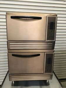 Rapid Bake Fast Cook Convection Microwave Oven Double Stack Turbochef 2166