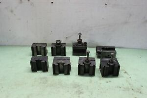 Lot Of 8 Enco 45 Quick Change Lathe Tool Post