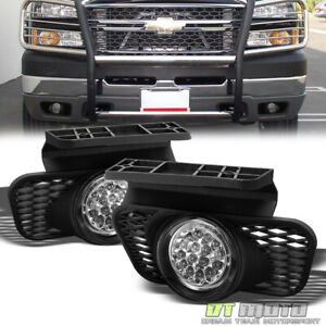 2003 2006 Chevy Silverado Avalanche Pickup Full White Led Fog Lights Lamp Switch