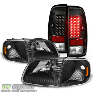 Blk 1997 2003 Ford F150 Headlights led Tail Lights Brake Lamps 97 03 Left right