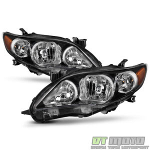 For 2011 2012 2013 Toyota Corolla Black Headlights Lamps Aftermarket Left Right
