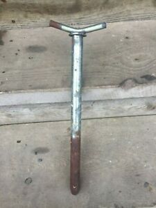 Left over Woods Backhoe Extra Long Hitch Pin 15 1 4 W 1 Diameter