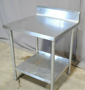 Commercial Grade Stainless Steel Table Backsplash Shelf 36 Tall Work Surface