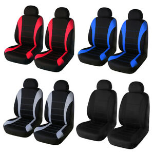 Breathable Front Car Seat Covers Sedan Suv Protector Head Rest Set Covers
