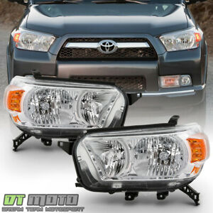 For 2010 2013 Toyota 4runner Chrome Headlights Headlamps Replacement Left Right
