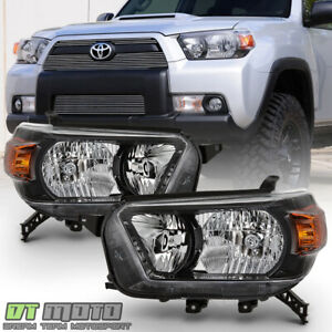 For 2010 2013 Toyota 4runner Smoke Bezel Headlights Headlamps 10 13 Left Right