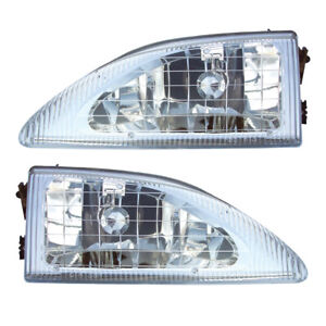 Headlights Front Lamps Pair Set For 94 98 Ford Mustang cobra Left Right