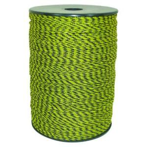 1312 Ft Yellow Black Poly Wire Electric Fencing Livestock Fence Roll Conductor