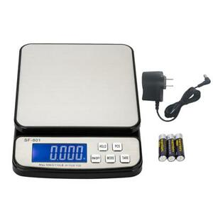 110 Lb X 0 1 Oz Pro Digital Postal Shipping Scale Weight Kitchen Count Adapter