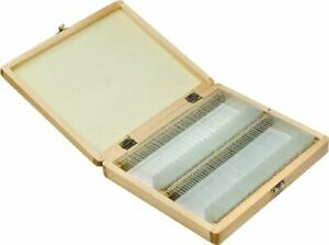 Barska 100 Prepared Microscope Slides W Wooden Case