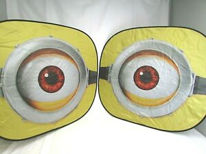 New Minions Eyes Universal Fit Auto Springshade Windshield Sun Shade