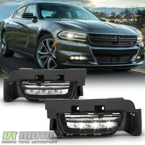 2015 2016 2017 Dodge Charger Factory Style Led Fog Lights Bumper Lamps W switch