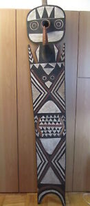 African Tribal Art Bwa Plank Mask Wood Pigments 78 No 01