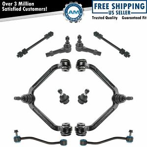 10 Piece Steering Suspension Kit Control Arms Ball Joints Sway Bar End Links