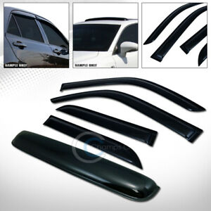 Smoke Sun Shade Vent Window Visors sunroof Moon Roof Guard For 96 02 4runner