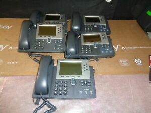 Lot Of 5 Cisco Ip 7960 Series Model Cp 7960g Voip Bussiness Phones