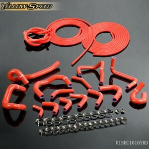 Silicone Hose Vacuum Hose Kit Red For Nissan Skyline Gtr R33 R34 Rb26det