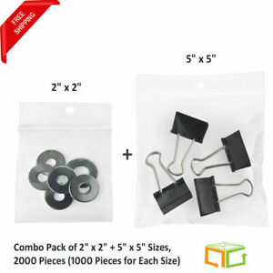 Ziplock Reclosable Hang Hole 2 X 2 5 X 5 2 Mil Poly Bags 2000 1000 size