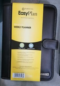 Franklin Covey Easy Day Planner Ring Binder Undated Starter Set brown Leather