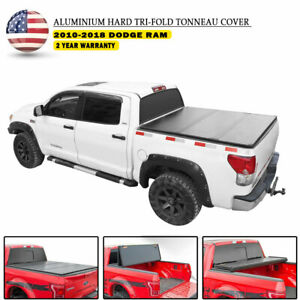 For Dodge Ram 1500 2500 3500 6 5ft Solid Truck Bed Hard Tri fold Tonneau Cover