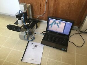 Nikon Tms Trinocular Microscope Phase Contrast 4x Ph 10 20 40 5mp Camera Nice