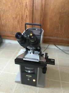 Zeiss Km Compact Brightfield phase Contrast Microscope 10 40 100 Ph2 Slider