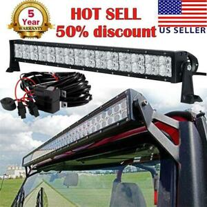 32 Inch 420w Cree Led Light Bar Combo Beam Spot Flood Truck Offroad 4wd Suv Ute