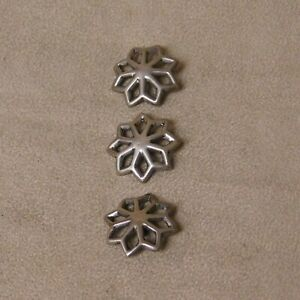 3 Sterling Silver Cast 3 4 Buttons