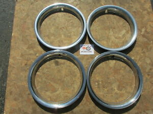 1970 S 80 S Chevy Camaro Chevelle 15 Rally Style Trim Rings Beauty Rings 4