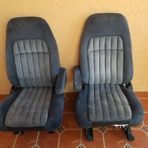 1988 1994 Chevy Gmc Truck Front Blue Bucket Captain Seats Power Driver Nice