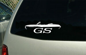 1968 Buick Gs Gran Sport Convertible Car Outline Sticker Decal Wall Graphic
