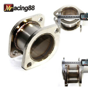 New 3 2 Bolt Flange Catback Exhaust Muffler Pipe Extension Flange Steel Adapter