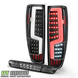 2004 2012 Chevy Colorado Canyon Black Led Tail Lights Smoked Led 3rd Brake Lamp