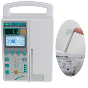 Infusion Pump Iv Fluid Equipment Voice Alarm Patient Monitor Kvo Purge Memory Us