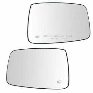 Exterior Mirror Glass Pair Lh Rh Sides Power Heated For Dodge Ram 1500 2500