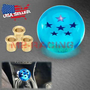 Universal Blue Dragon Ball Z 6 Star 54mm Shift Knob With Adapters Fit Most Cars