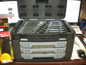 Gearwrench 232pc Mechanics Tool Set In 3 Drawer Storage Box 80944 1 4 3 8 Dr