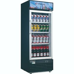 New 24 1 Glass Door Refrigerator Drink Display Cooler Nsf Dukers Dsm 12r 2218
