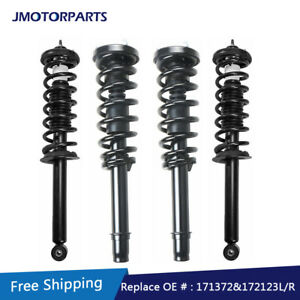 Set 4 Front Rear Complete Struts For 2003 2004 2005 2006 2007 Honda Accord