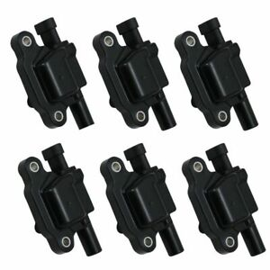 6 Piece Engine Ignition Coil Kit Set Square Style For Silverado Sierra 1500 4 3l